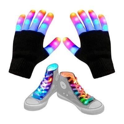 Aywewii LED Shoelaces + Gloves